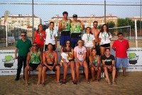 El espectáculo del voley-playa no defraudó en Don Benito